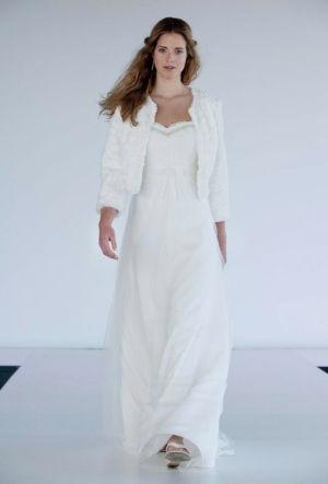 Poročna obleka Eros / jakna Tobia